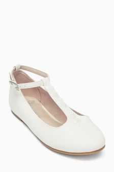 Bridesmaid T-Bar Shoes (Older Girls)