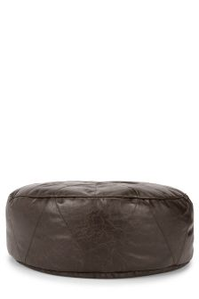 Brown Faux Leather Drum