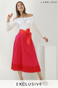 Mix/Isa Arfen Colourblock Tie Waist Skirt