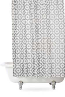 Grey Geo Shower Curtain