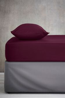Cotton Rich Plain Dye Fitted Sheet