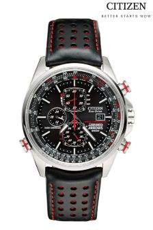 Silver Citizen Eco Drive® Red Arrows Chronograph A.T Watch