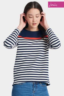 Joules Navy Stripe Clemence Sweat