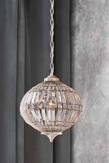 Beaded Palais Small Pendant