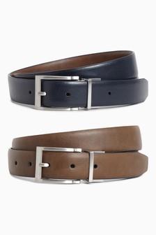 Tan/Navy Reversible Belt