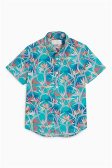 Bright Printed Short Sleeve Shirt (3-16yrs)