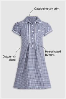 Lace Gingham Dress (3-14yrs)