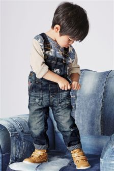 Authentic Denim Dungarees (3mths-6yrs)