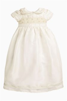 Full Length Silk Occasion Dress (0-18mths)