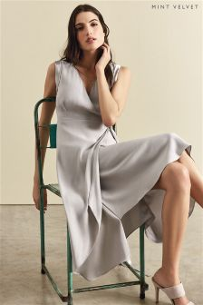Mint Velvet Blossom Tie Side Asymmetric Dress