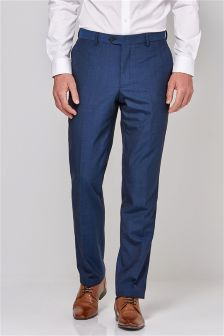 Buy Men's suits Trousers Blue from the Next UK online shop
