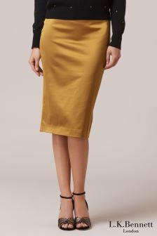 L.K.Bennett Miranda Yellow Skirt