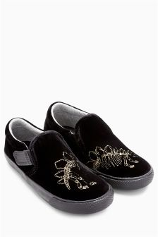 Dino Embroidery Slip-Ons (Younger Boys)