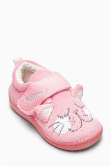 Pink Cat Slippers (Younger Girls)