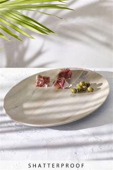 Wood Effect Melamine Platter