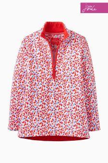 Joules Pink Ditsy Half Zip Sweatshirt