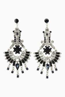 Jewel Drop Statement Earrings