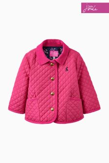 Joules Pink Quilted Jacket