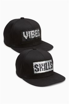 Slogan Sequin Cap (Older Boys)