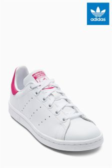 White/pink adidas Originals Stan Smith