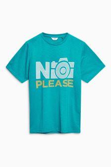 No Photos Graphic T-Shirt