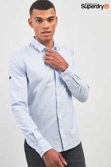 Superdry Blue Stripe Oxford Long Sleeve Shirt