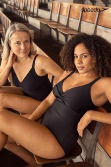 Speedo® Black Sculpture Watergem Adjustable Swimsuit