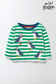 Boden Green Fun Striped T-Shirt