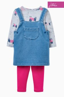 Joules Denim Pinafore Set