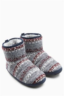Fairisle Pattern Knit Boot