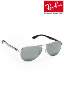 Silver Ray-Ban® Aviator Sunglasses