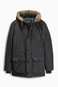 Grey PS Fur Parka