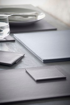Buy Kitchen Table Linen Grey Table mats Tablemats Tablelinen from