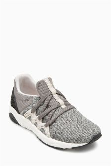 Elastic Lace Trainers (Older Boys)