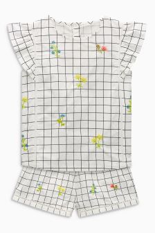 Embroidered Woven Short Pyjamas (3-16yrs)