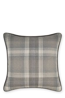 Grey Cosy Check Cushion