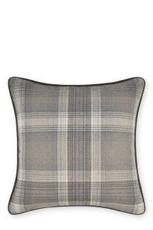 Grey Cosy Check Cushion