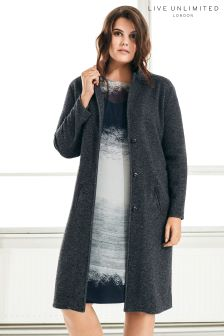 Live Unlimited Dark Grey Boyfriend Coat