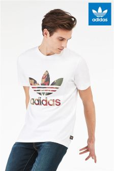 adidas Originals Hu Hiking White Trefoil Tee