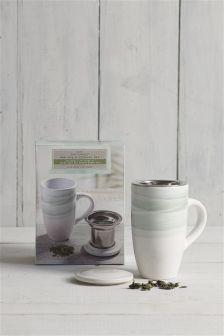 Tea Mug And Loose Leaf Tea Infuser Set