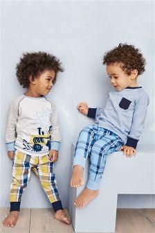 Check Pyjamas Two Pack (9mths-8yrs)