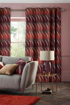 Geo Wave Eyelet Curtains Studio Collection By Next