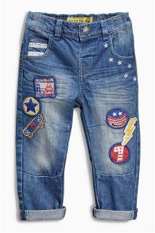 Mid Blue Badge Jeans (3mths-6yrs)