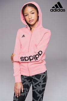 adidas Pink Linear Zip Hoody