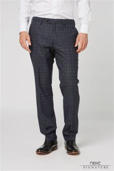 Signature Prince Of Wales Check Tailored Fit Suit: Trousers