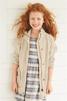 Neutral Linen Blend Jacket (3-16yrs)