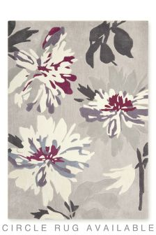 Plum Delicate Floral Rug