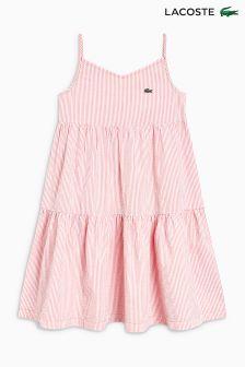Lacoste® Pink/White Stripe Dress
