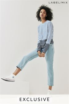 Mix/Isa Arfen High Waist Capri Jean