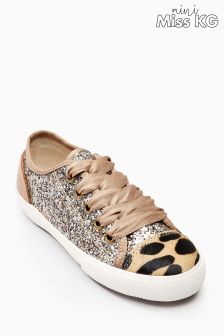 Mini Miss KG Glitter Mini Lucca Lace-Up Sneaker